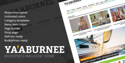 Ya aburnee - тема WordPress