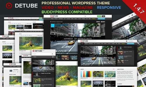 deTube - Адаптивная видео тема WordPress