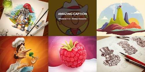Анимация подписей изображений
