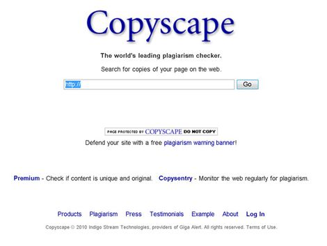 Copyscape онлайн-сервис по проверке уникальности текста