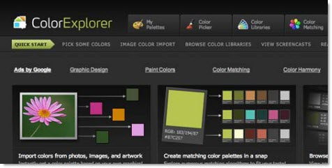 ColorExplorer цветовая палитра