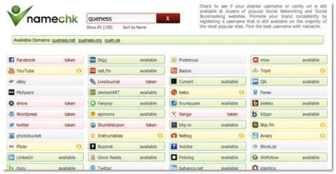 Name Check полезные онлайн-инструменты