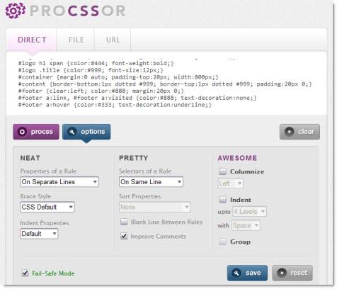 ProCSSor - оптимизатор CSS