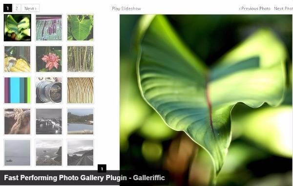 Galleriffic-Галерея изображений