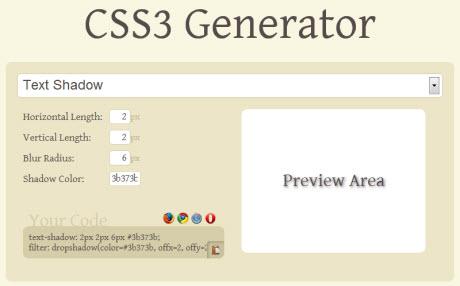 CSS3 Генератор онлайн