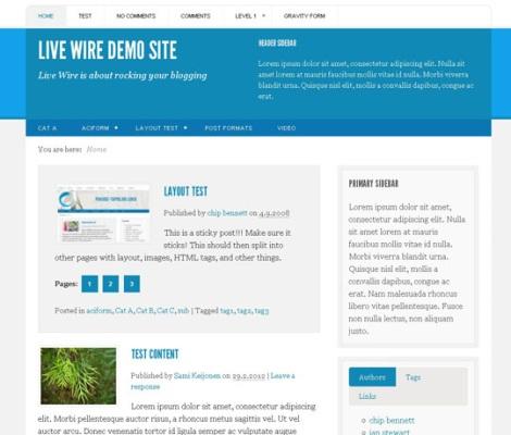 7.новые бесплатные темы wp июнь 2012