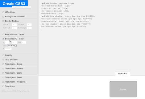 Онлайн генератор свойств CSS3