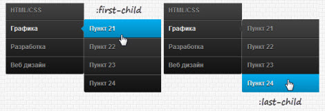 CSS3 меню навигации