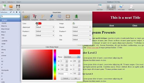 Онлайн редактор CSS/HTML