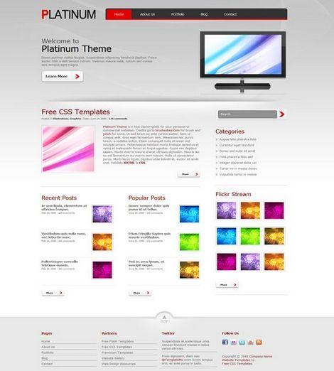 Шаблон сайта Platinum
