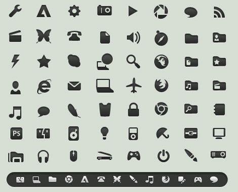 10 наборов иконок в стиле минимализма