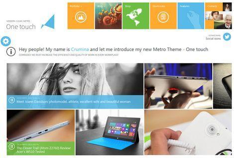 One Touch - Адаптивная тема WordPress в стиле Metro