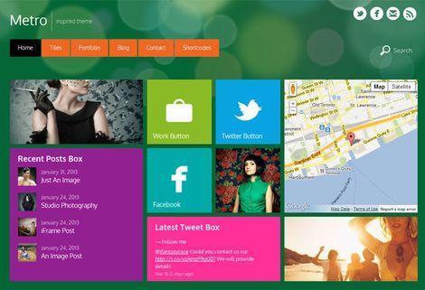 Адаптивная тема WordPress в стиле Metro