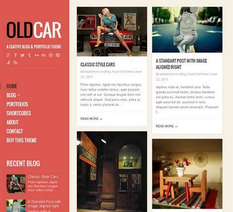 OldCar - Адаптивная тема WordPress