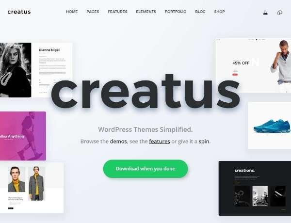 Creatus - Многоцелевая тема WordPress