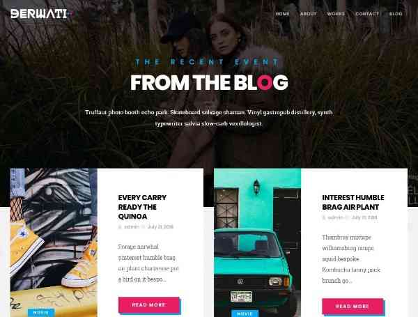 Derwati - Творческая тема портфолио WordPress
