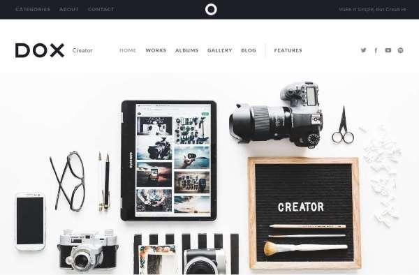 Dox - Креативная тема WordPress