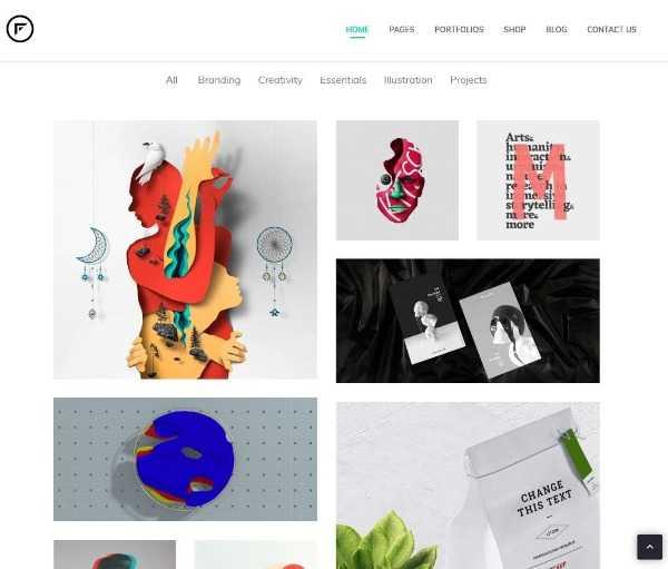 Fraxos - Творческая портфолио тема WordPress