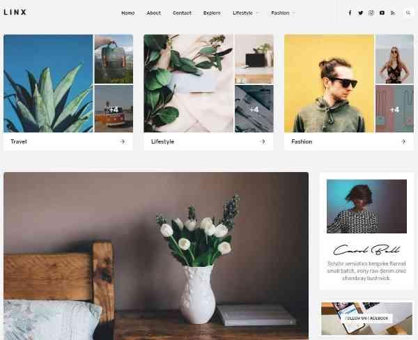 Linx - Тема блога и журнала WordPress