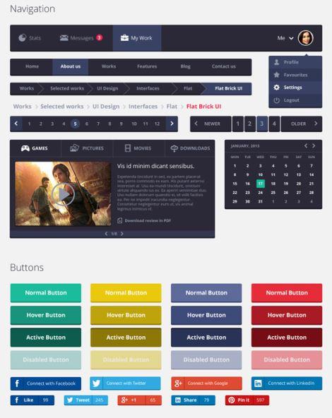 Бесплатные наборы элементов интерфейса