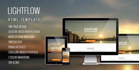 Lightflow - Адаптивный Parallax шаблон WordPress