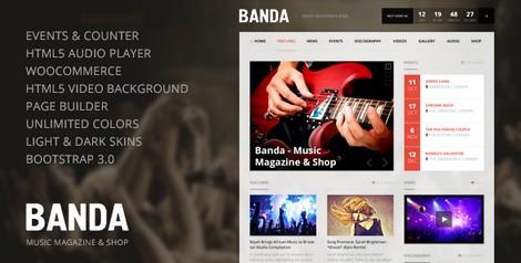 Banda - музыкальная тема WordPress
