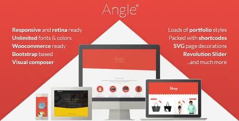 Angle - адаптивная тема WordPress с плоским дизайном