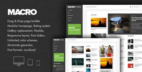 Macro - новая журнальная тема WordPress