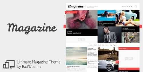 Magazine - журнальная тема для блогов wp