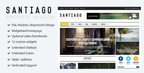 Santiago - журнальная тема WordPress