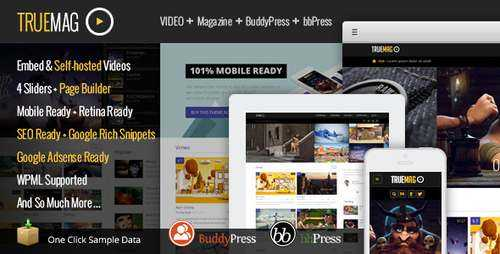 True Mag - Видео тема WordPress