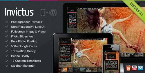 Invictus - полноэкранная фото-видео тема WP