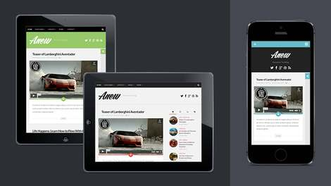 Anew - Бесплатная тема WordPress