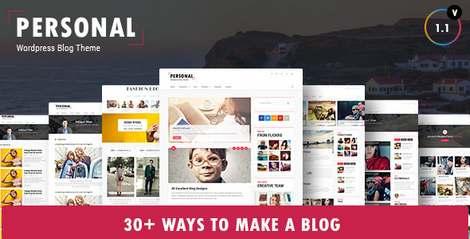 Personal - Премиум тема для персонального блога