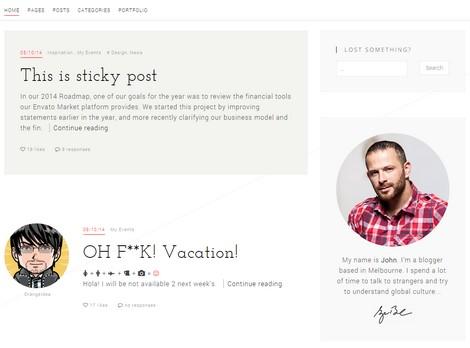 BLG - Минималисткая тема  WordPress