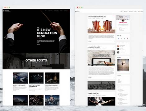 Blogy - Тема для персонального блога WordPress