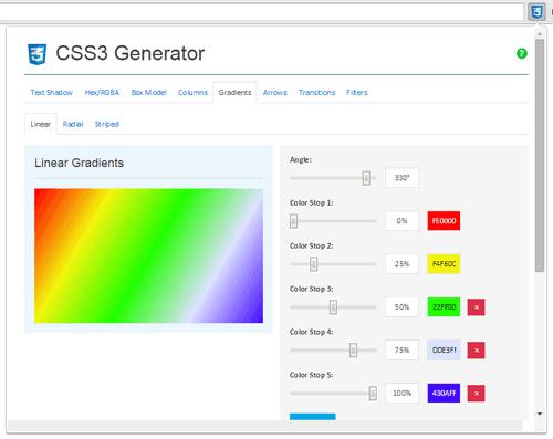 Расширение Chrome - CSS3 Generator