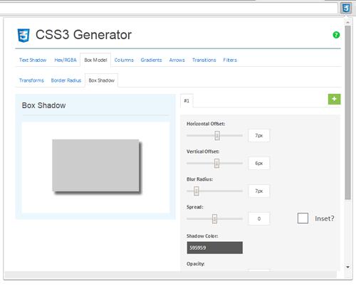 Box Model - CSS3 Generator