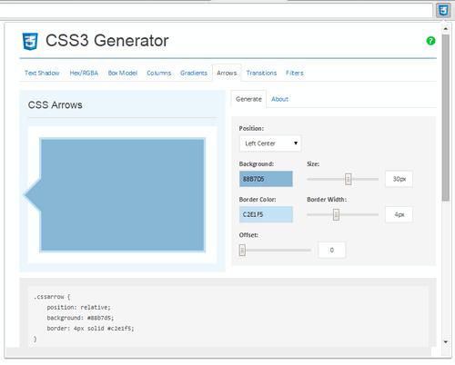 CSS Arrows - CSS3 Generator