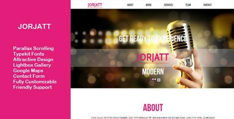 Jorjatt - многоцелевой шаблон html