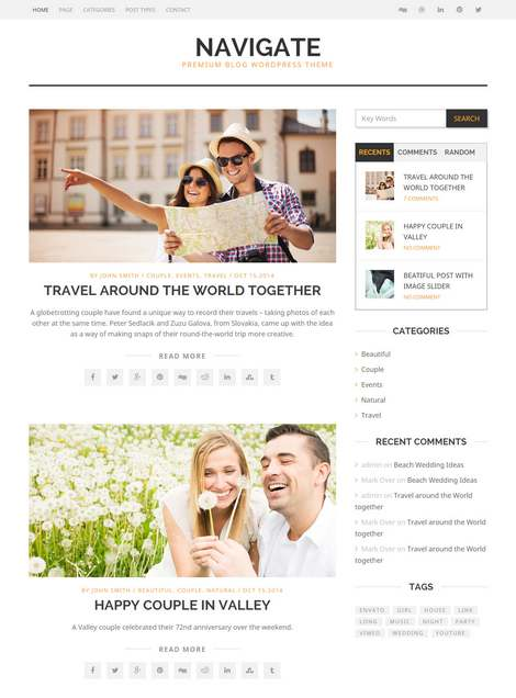 Navigate - Премиум тема WordPress