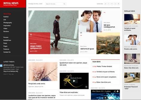 RealNews - адаптивная тема WordPress