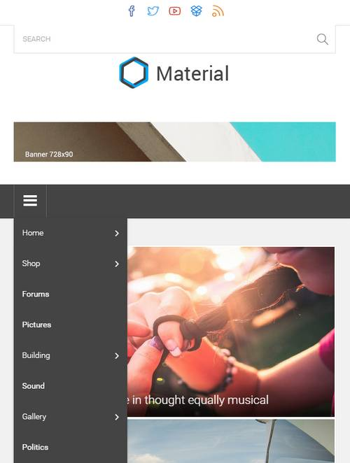 Material - Журнальная тема WordPress
