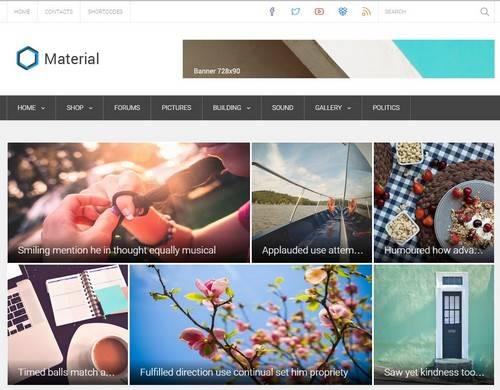 Material - Журнальная тема WordPress премиум класса