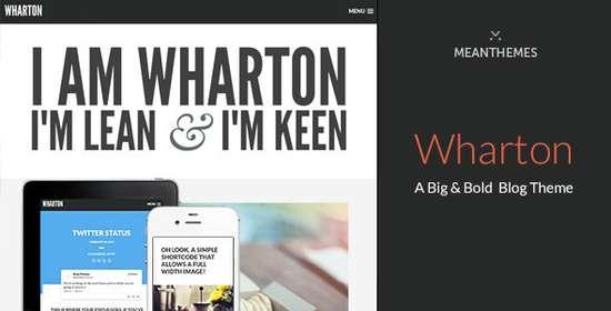 Wharton - Тема для персонального блога WordPress