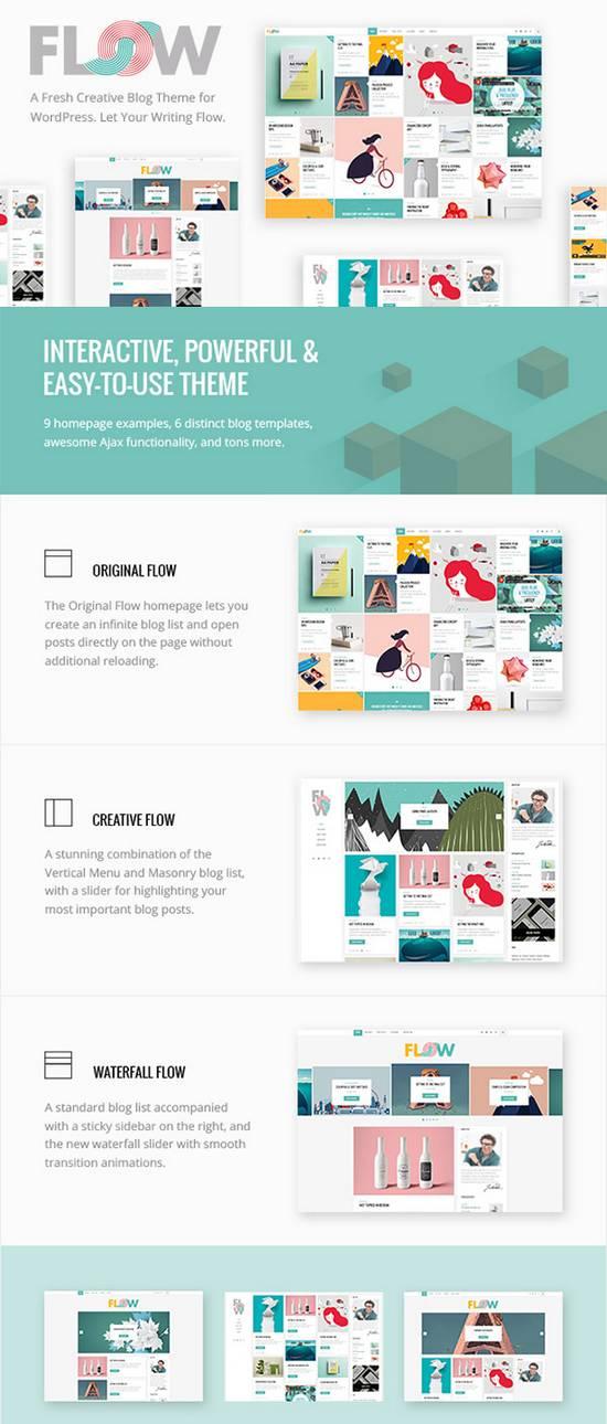 Flow - Свежая блог-тема для творческих натур