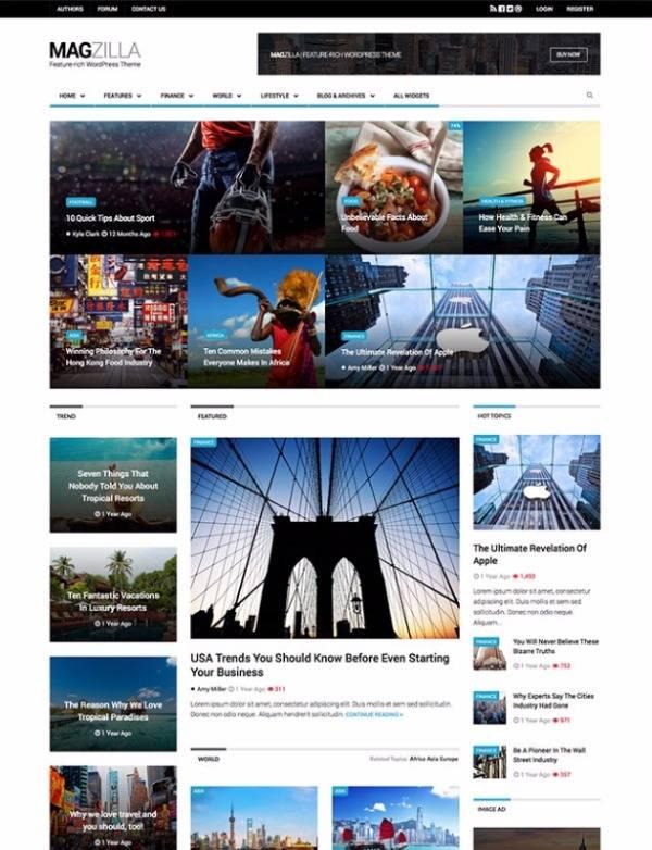 Magzilla - тема для новостных сайтов, журналов и блогов