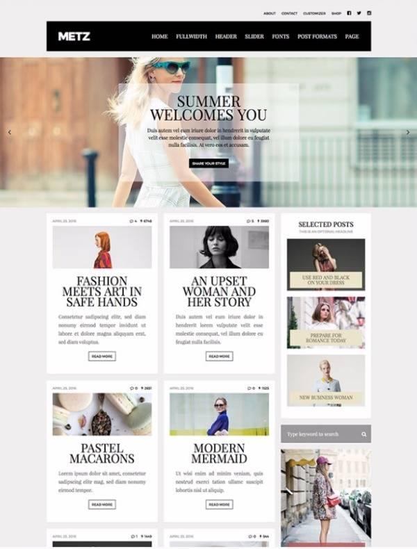 Metz - Редакция журнала моды на WP