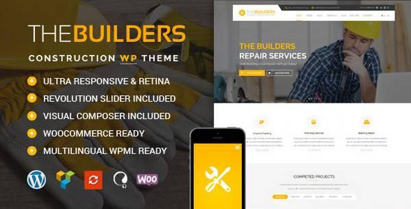 Builders - Тема WordPress для конструкторских агентств