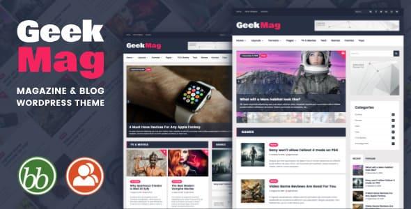 GeekMag - Тема WordPress в журнальном стиле для блога